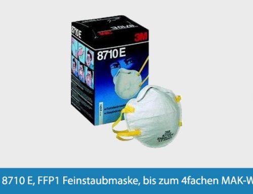Feinstaubmaske 3M 8710 E, FFP1 bis zu 4-fachen MAK-Wert