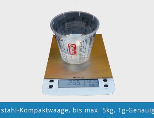 Edelstahl-Kompaktwaage, bis max. 5kg, 1g-Genauigkeit