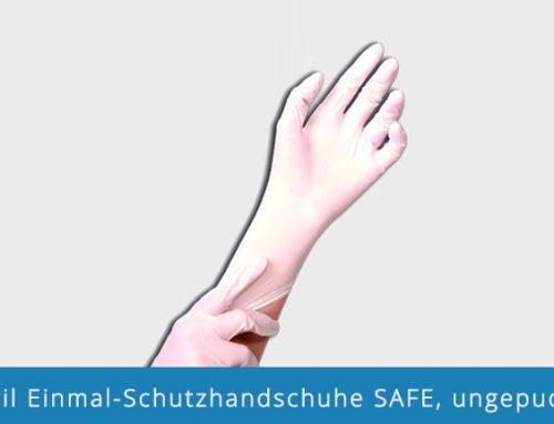 Nitril Einmal-Schutzhandschuhe SAFE, ungepudert
