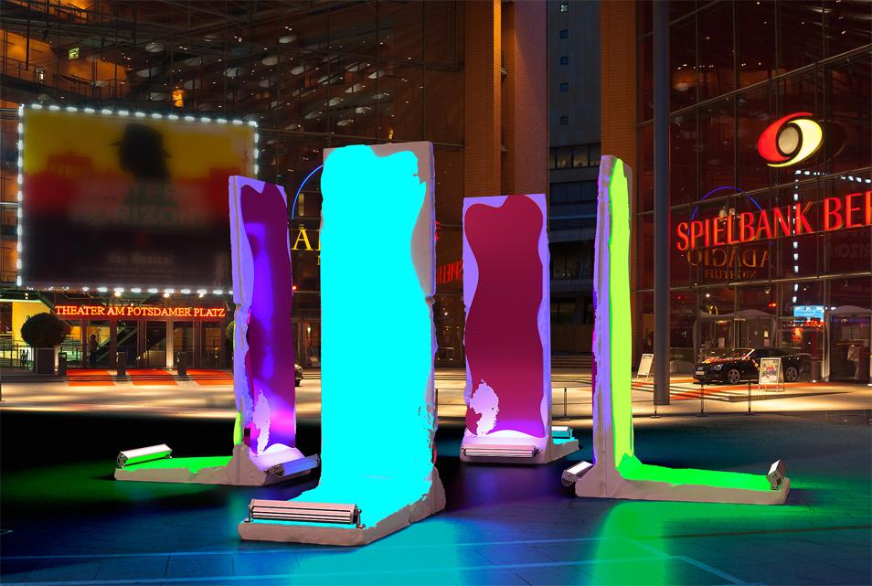 Berlin leuchtet Monolithen