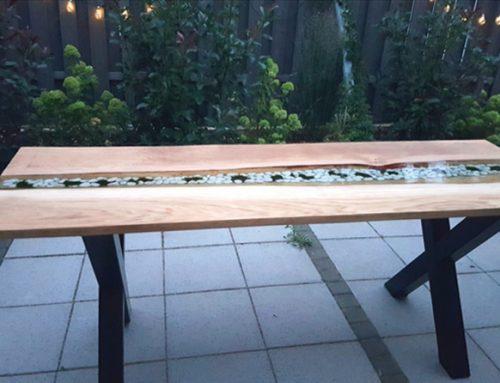 Tisch mit Epoxidharz herstellen (Anleitung)