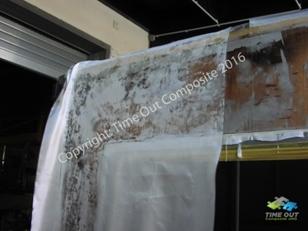 Glasgewebe Laminiervorgang Wohnmobil