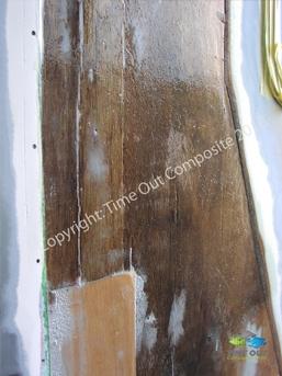 Wohnmobil Reparatur Massiv Holz eingesetzt