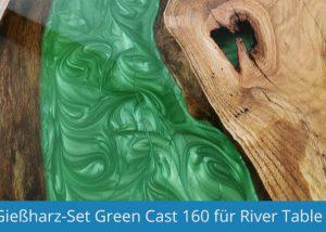 Gießharz-Set für Rivertable: Greencast 160 Epoxidharz